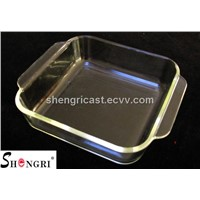heat-resistant high borosil glass square baking pans