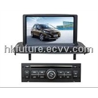 in dash car dvd gps player with dvb-t/isdb-t for Peugeot 3008