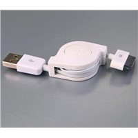 iphone 4/4s cable,retractable flat cable for iPhone 4/4s