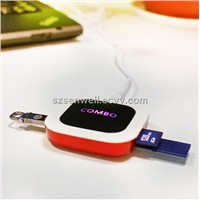 Oval USB Hub with Card Reader