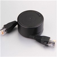 retractable flat lan cable/patch cord for meetting/travel