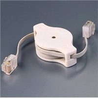 retractable flat lan cable/patch cord for travelling/meeting