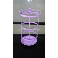 rotating 3 tiers wire earrings holder jewelry display racks