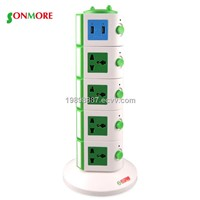 surge protection vertical new intelligent plug extension socket