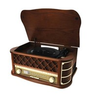 turntable,radio,cassette,audio files CD and USB playback and recording