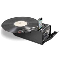 ultra-portable digital conversion turntable with cassette deck