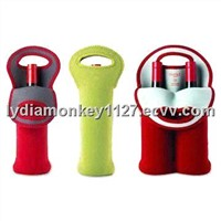 neoprene Can Cooler China-1049 single or double style pls choose neoprene red wine bottle bags