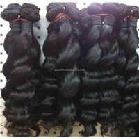 Pure hair human hair weft natural virgin hair weave hair products hair extension hair accessories