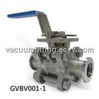 Vacuum ball valve for vacuum system and semiconductor equipment
