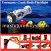 Hand Dynamo Cranking Flashlight Radio with Mobile Phone Charger Jack