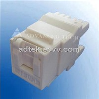UTP Cat.5e Keystone Jack ,white,180 degree with Dust Cover