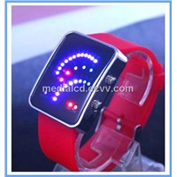 2012 New Design Colorful Silicone LED Watch, Fan-Shaped Digital Bracelet LED Watch,Fashion LED Watch