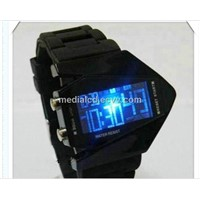 2013 Colourful LED Mirror Watch, Promotional LED Silicone Watch