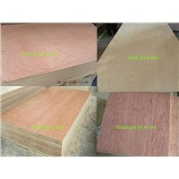 2-40mm plywood timber birch core with difference wood paper