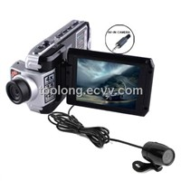 2.5inch Dual Cam Car DVR Supporting 8languages