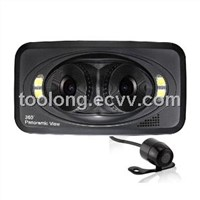 2.7inch 2in1 Lens Car DVR 360degree Monitoring