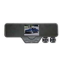 3.5 inch Dual lens car DVR recorder,dual lens night  vision rearview mirror car black box