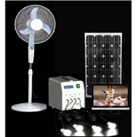 50w High Efficiency Portable Solar Power System For Village Home Indoor Lighting