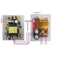 80w digital amplifier board with power supply