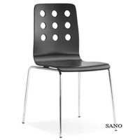 9 hole plywood chair with metal leg