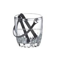 Bar accessories/Ice bucket/ice buckets for wine/wholesale/glass buckets/glass ice bucket
