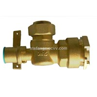 Brass angle ball valve with lock