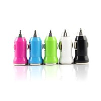 Bullet 0.5A/1.2A 12-24V USB Car Charger Designed For Apple Samsung And Android Devices Output 5V