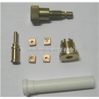 CNC custom turning knurled slots mutiple gaps POM nozzle,with competitive price,can small orders