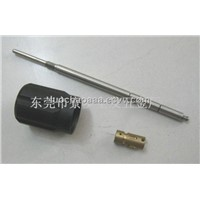 CNC machining stainlss steel cylindrical drive shaft,drilling 1.0MM hole,with M3 thread