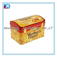 metal tin candy container