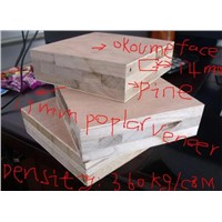 China poplar/Fir/pine core with red cedar face blockboard/Green timber