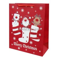 Christmas Paper Bag with Metallic Cord