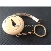 Convinient mini waist tape measure with keychain