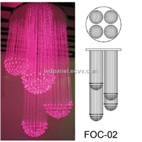 Fiber optic Light Chandelier FOC-02 with 3*075mm side sparkle fiber optic lighting calbe