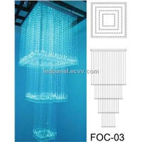 Fiber optic Light Chandelier FOC-03 with 3*075mm side sparkle fiber optic lighting calbe