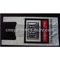 HDPE White Biodegradable Plastic T-Shirt Retail Shopping bag/Retail grocery bag/Vest handle bag