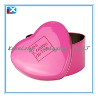 Heart-shape tin box/XL-5028