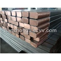 High quality titanium clad copper Square / Round Bar