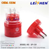 Hot world travel adapter & universal multi plug sockets , for advertising gift