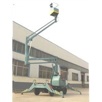 Hydraulic arm lift platform