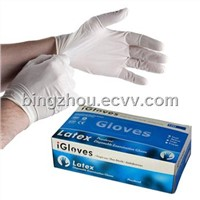 Latex examation gloves