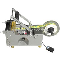 MT-50 semi auto adhesive round bottle labeling machine