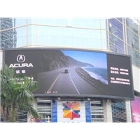 P10 1R1G1B DIP Outdoor Full Color LED Video Display With Multi-functional Card Large LED Screens