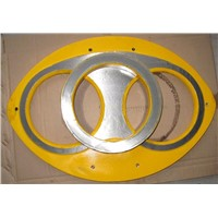 PM Concrete Pump Mitsubishi, PM Spare Parts Wear / Spectacle Plate / Cutting Rings