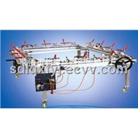 Pneumatic tension stretched mesh machine Double aluminum clamp