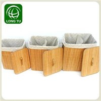 Practical Folding Compartment laundry basket/baskets for dirty linen/folding mesh laundry basket