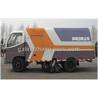 Pure electric municipal road sweeper truck