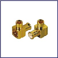 Right angle MCX rf connector