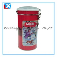 Round Tin Box with Plastic Lid/XL-40211