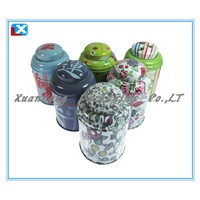 Round tea tin can/XL-1018